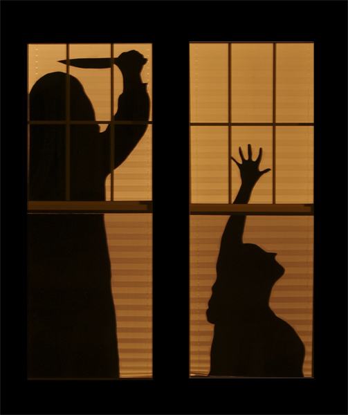 ideas to decorate windows with silhouettes on halloween - Halloween Window Decor