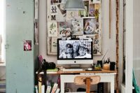 Industrial style home office could even be cute