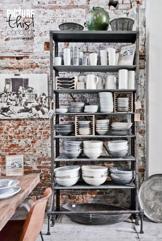 Industrial style shelves are quite popular nowadays (via digsdigs)