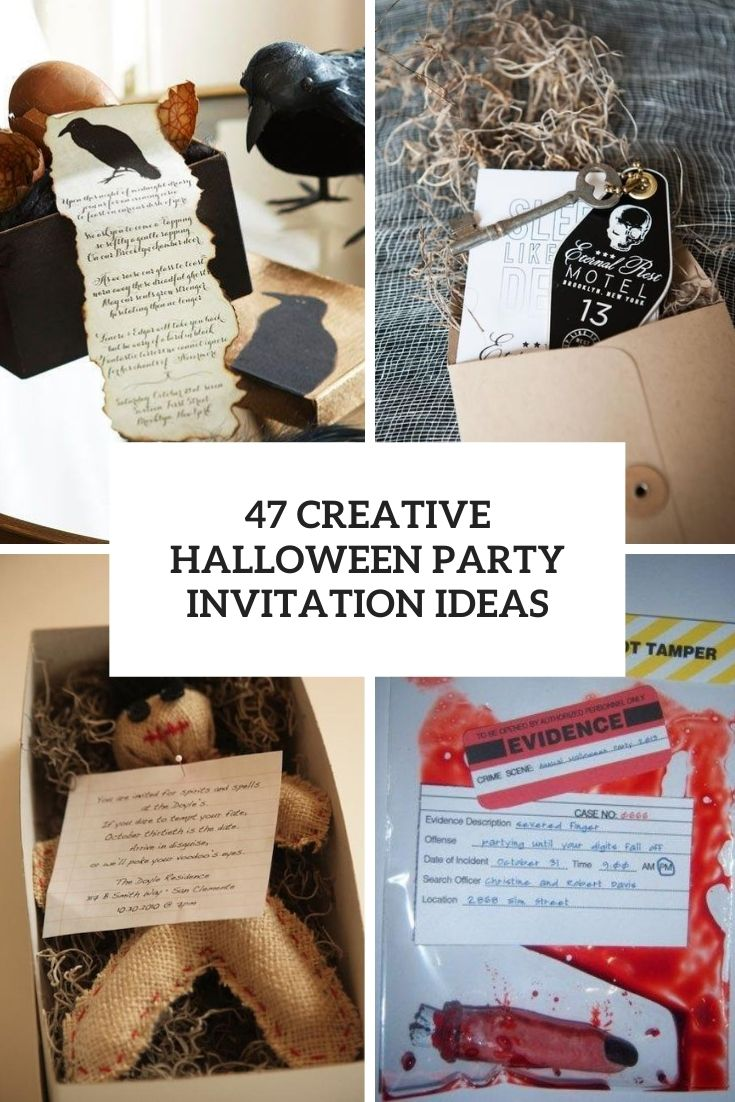 creative halloween party invitation ideas cover