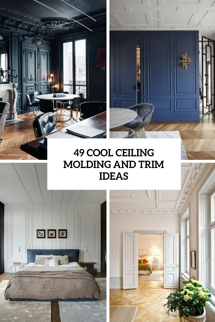 49 Cool Ceiling Molding And Trim Ideas