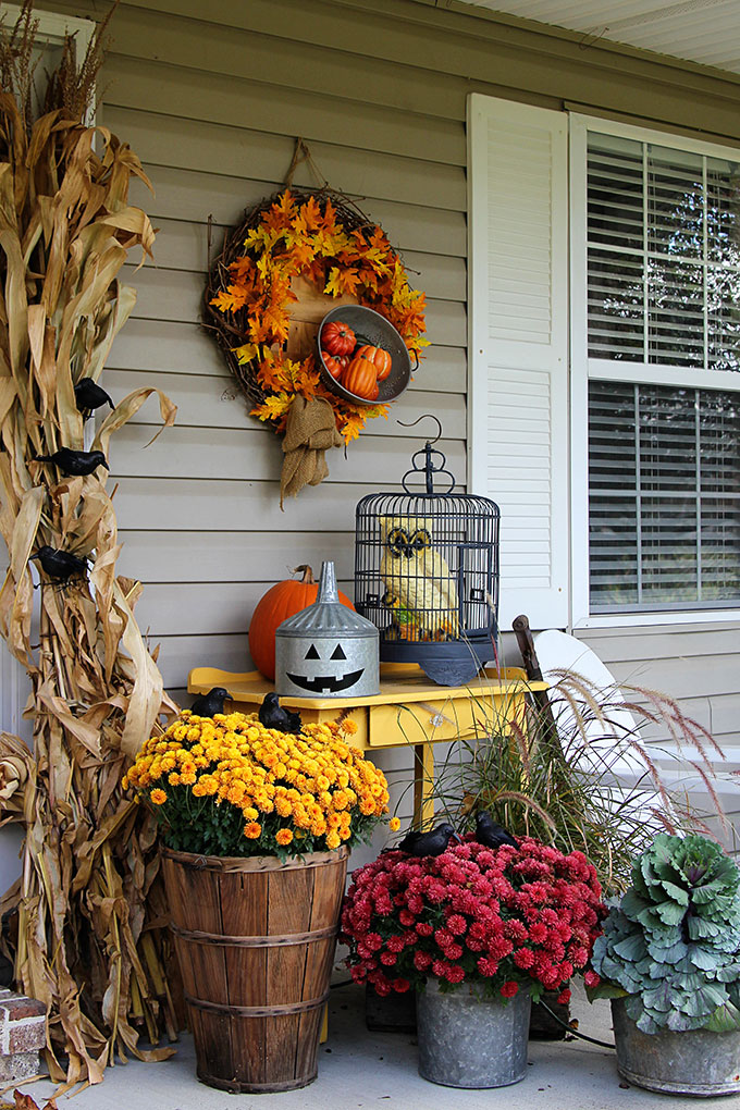 120 Fall Porch Decorat...