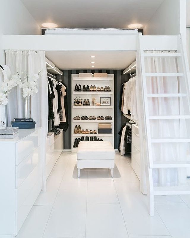 Walk In Closet Design Ideas an ironing board is a great addition to a walk in closet if you want Gorgeous Space Saving Walk In Closet Idea