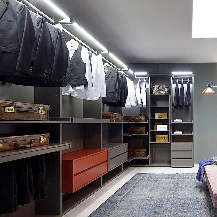 18 Classy Closet Storage Solutions For Your Clothes: Picture Of Simple Walk In Clothes Storage Solution