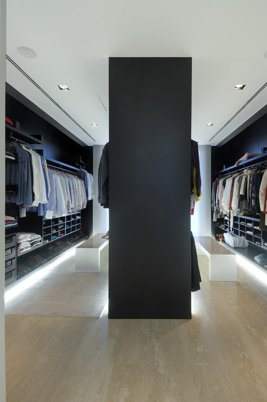 stunning spacious walk-in closet for a real man