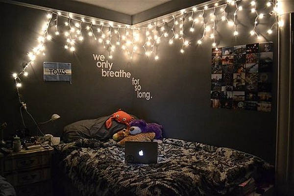 welcoming and magical ambiance you can achieve with lights is perfect for modern interiors - How To Decorate Your Bedroom For Christmas