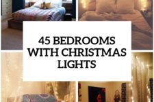 15 ideas to hang christmas lights in a bedroom