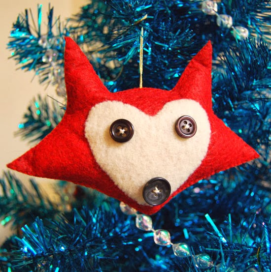 felt fox - Handmade Felt Christmas Decorations