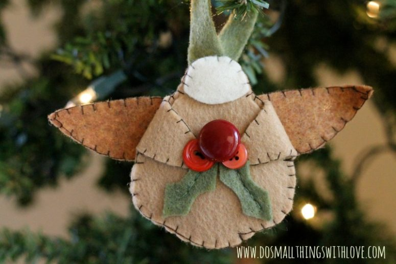 70 diy felt christmas tree ornaments shelterness - How to make felt christmas decorations ...