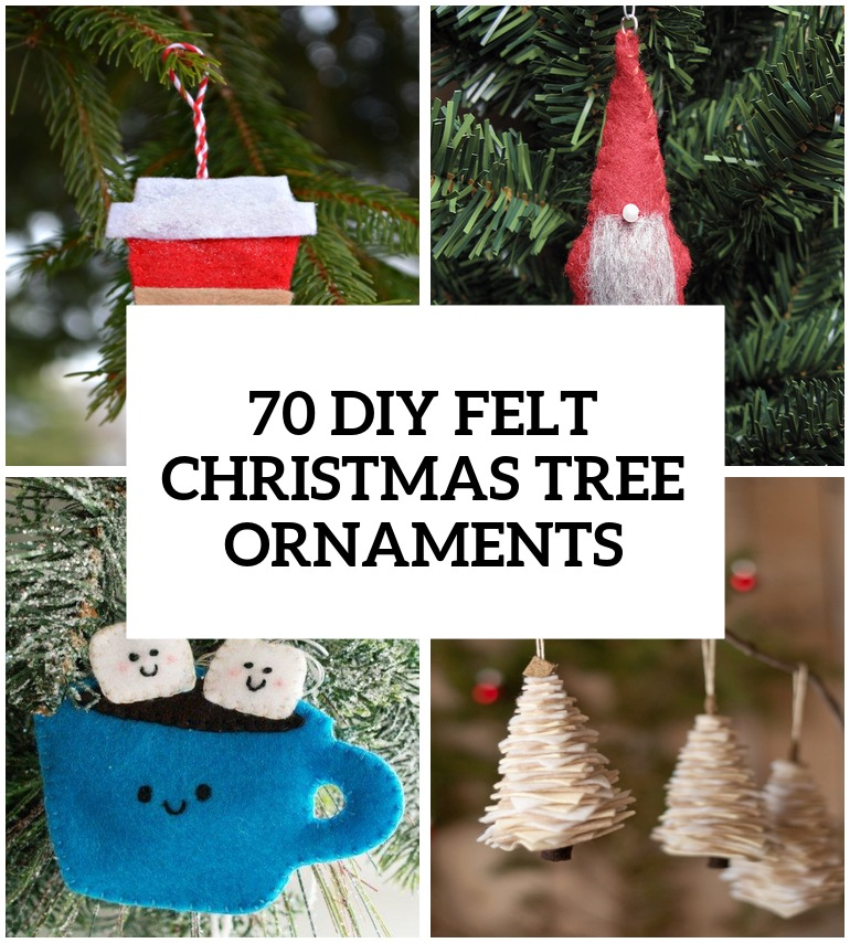 70 diy felt christmas tree ornaments shelterness for Home made christmas tree decorations