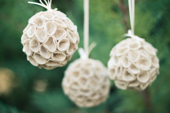 creative modern felt ornament