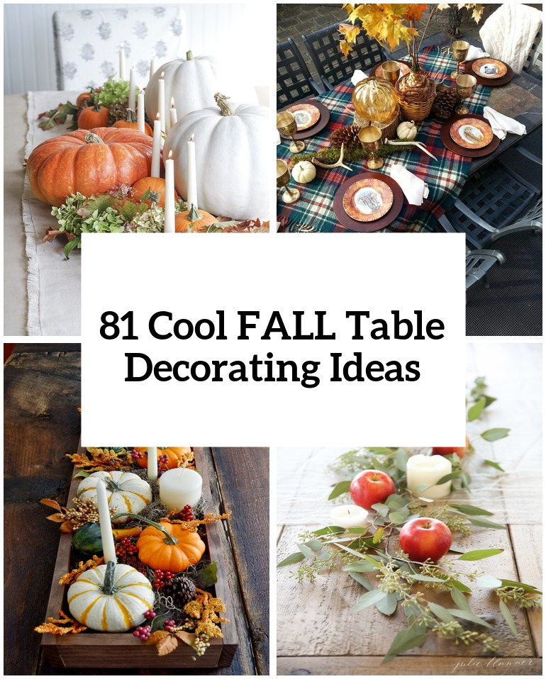 81 cool fall table decorating ideas shelterness for Table design tips