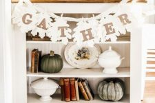 fall leaf garland to hang on a side table
