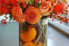 a cool and easy to make fall centerpiece