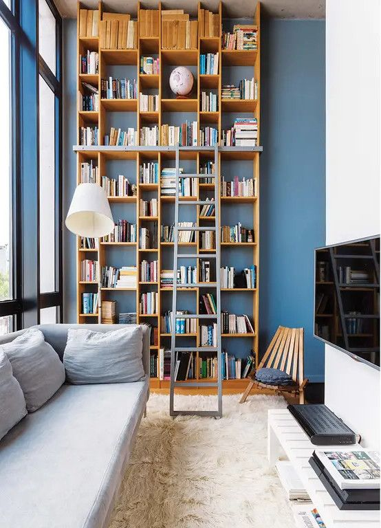 Living Room Library Design Ideas: 76 Ideas To Organize A Home Library In A Living Room