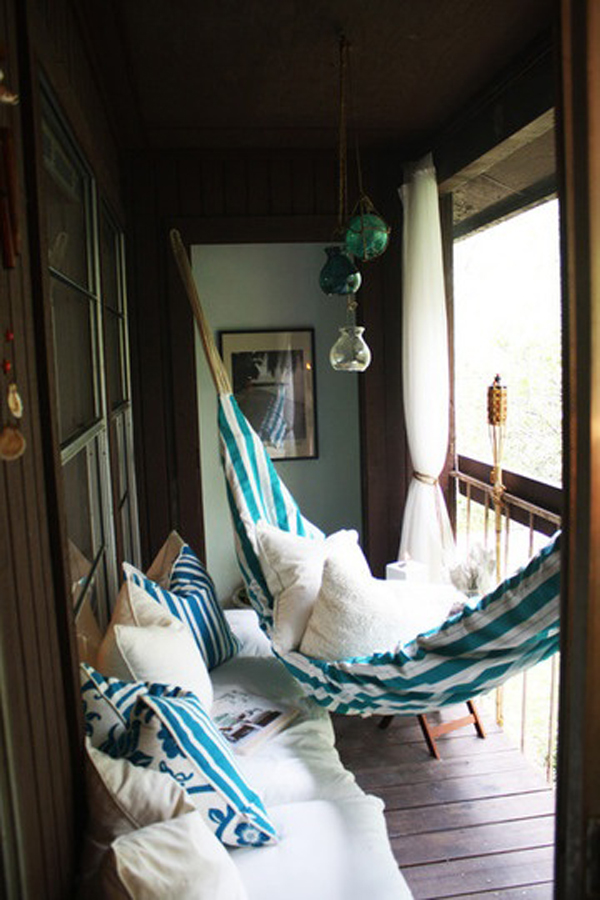 even a small balcony could feature a hammock for additional relaxation
