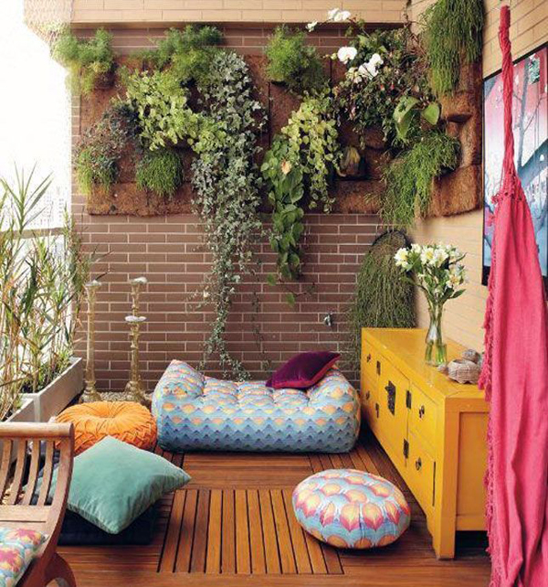 use your walls and even a tiny balcony could become a beautiful garden