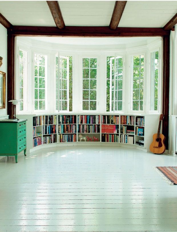 A bay window could even become a small home library with lots of storage space.