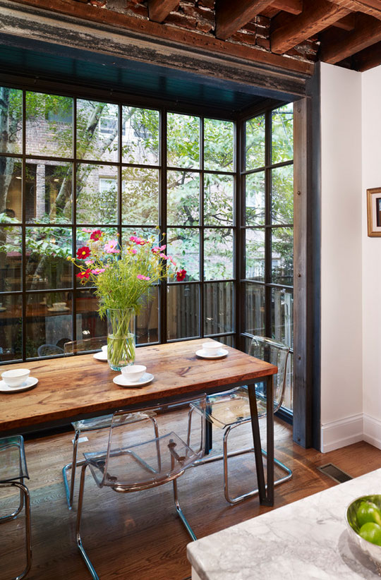 Floor-to-ceiling bay windows would turn your dining space almost into an outdoor one.