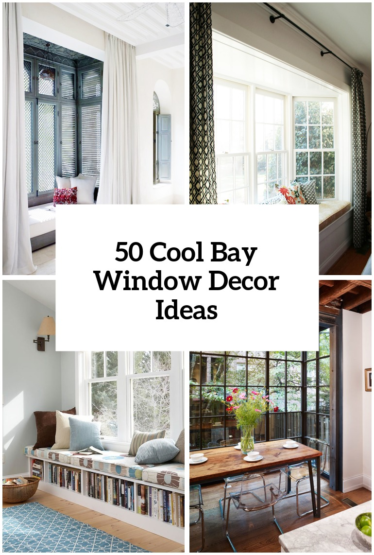 50 cool bay window decorating ideas shelterness How to decorate windows