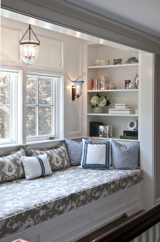 Cool Bay Window Decorating Ideas. Combine Window Seat With In Wall Storage  To Create A Perfect Reading Nook.