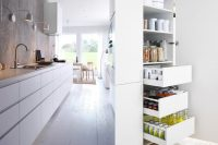 IKEA Metod pull out drawers are perfect for dry food storage