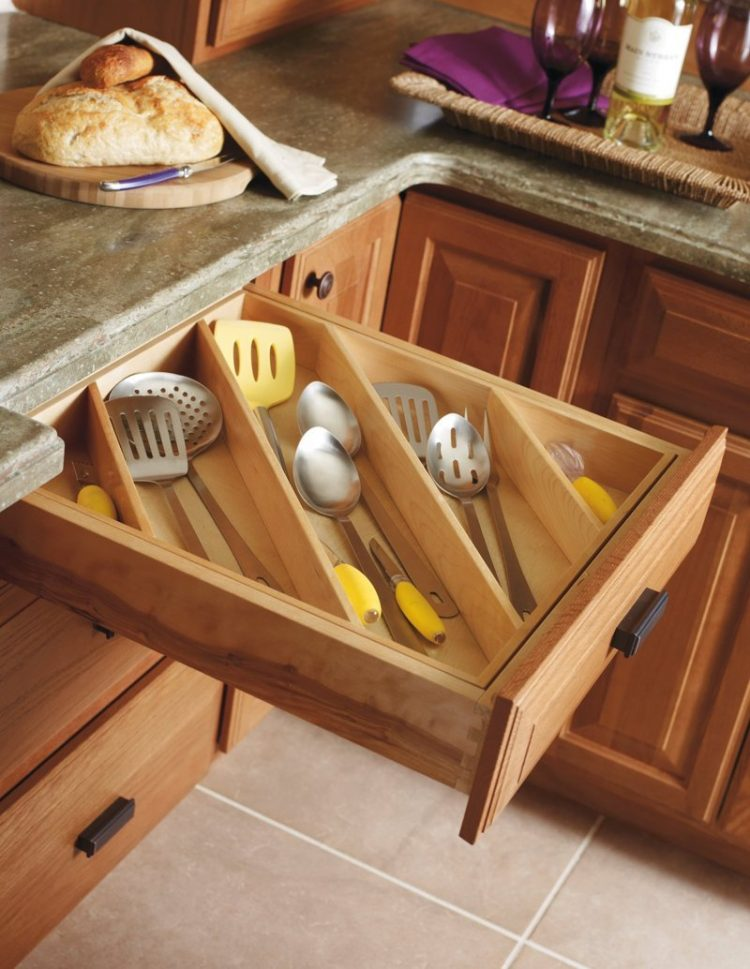 diagonal kitchen drawer organizers are perfect way to store long utensils