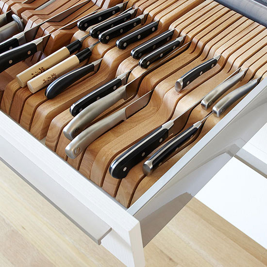 if you have lots of knifes you can organize them in one top drawer