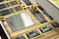 wood drawer organizers are perfect for all those shiny metal things
