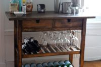 IKEA FORHOJA cart can easily become a home bar