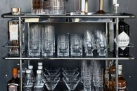 all metal movable home bar solution