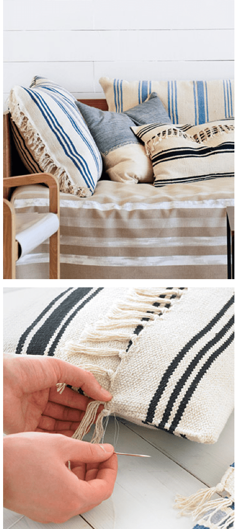 Awesome DIY Floor Pillows Could Be Made From Ikea Floor Mats