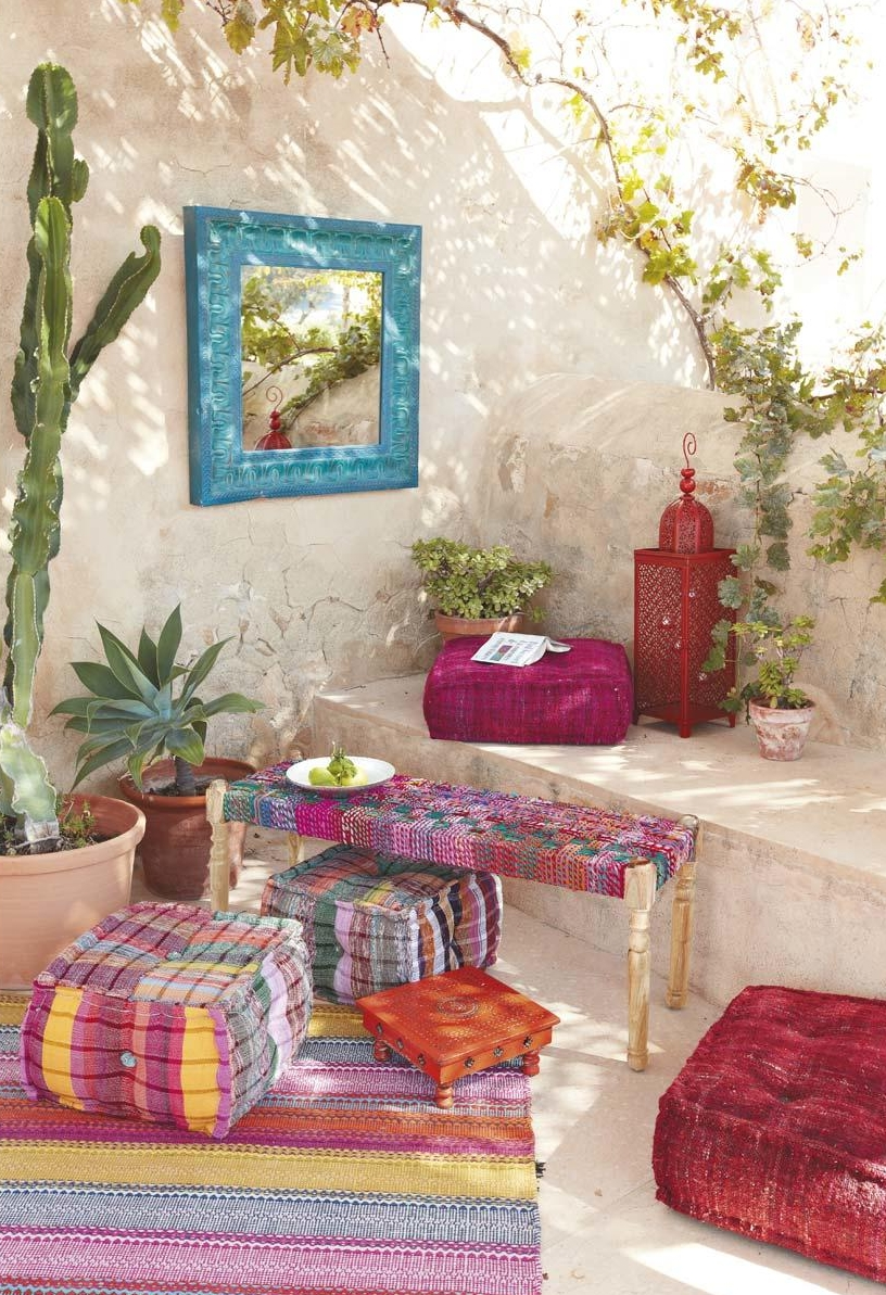 colorful patterns could enrish any bohemian living space