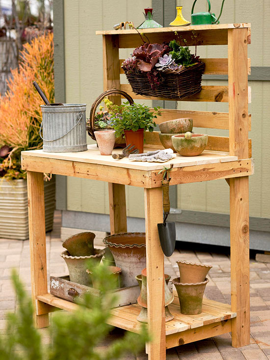 58 Awesome Potting Benches For Every Gardener