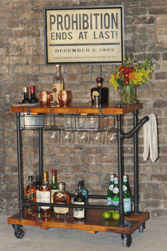 Elegant You Can Diy A Industrial Style Bar Cart That Will Have Enough Space For All