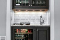 you can squeeze a home bar in an akward niche