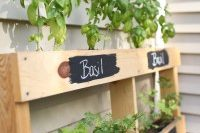 Using a pallet mean your herb garden won't cost you a penny!