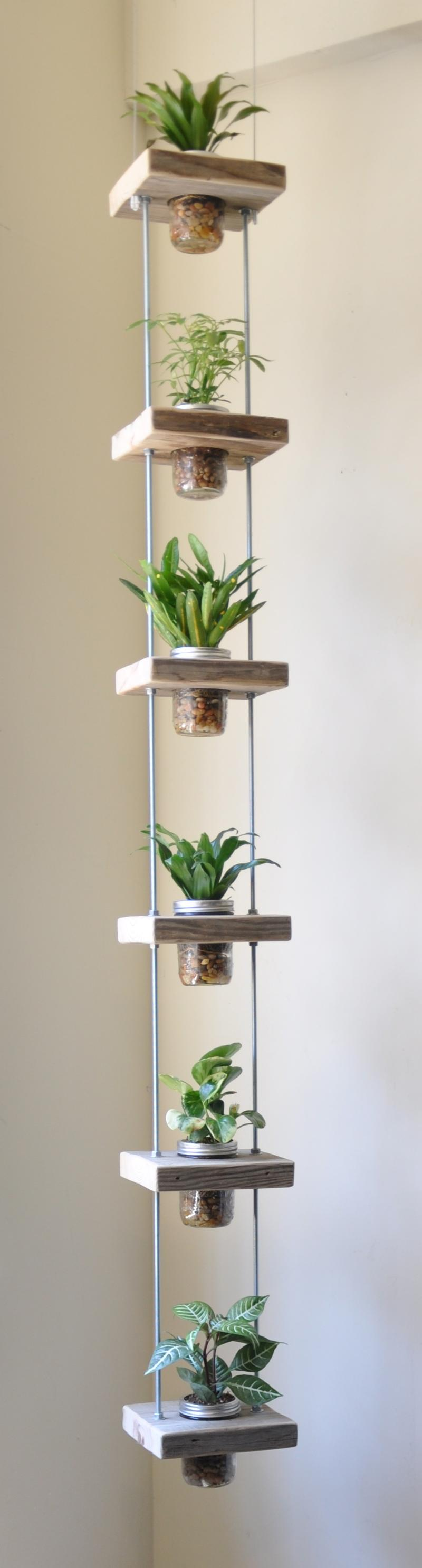 Here is one more hack that will allow you grow your herbs indoors without occupying much space.