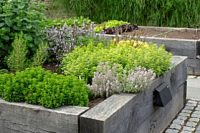 DIY Raised herb garden isn't that hard to make. Alhtough it works really well!