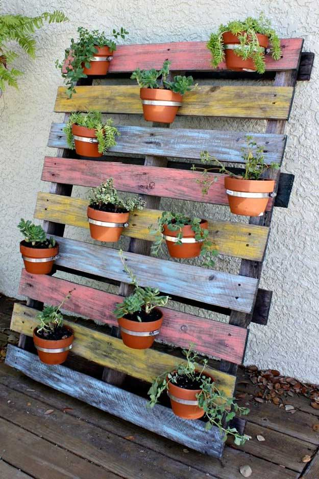 paint your wood and your compact garden would be a great decoration of your backyard