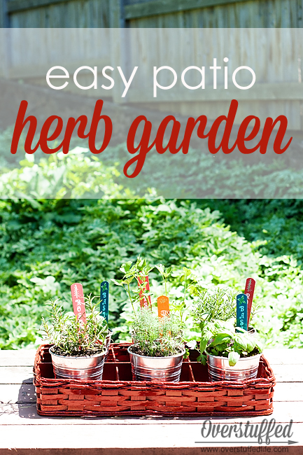 The most easy DIY herb garden for your patio. (via overstuffedlife)
