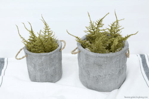 Concrete isn't an obvious material for planters but who said you can't use it? (via shelterness)