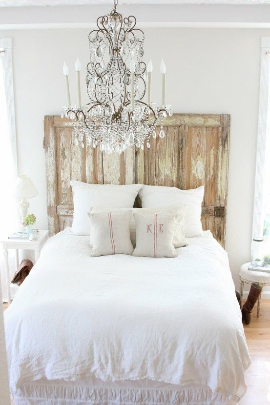 Shabby Chic Home Decorating Ideas Part - 17: Aged Headboard Is Probably All You Need To Make Your Bedroom Look Chic