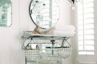 chandaliers are also great for shabby chic interiors