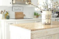 even a kitchen hood can look shabby chic