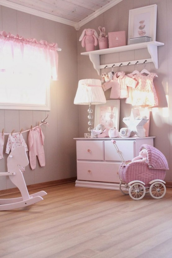 Popular shabby chic girl rooms could be all pink