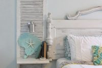 shutters are perfect for country chic bedroom decor