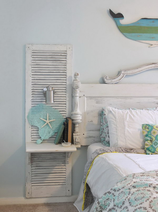 Marvelous shutters are perfect for country chic bedroom decor