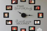 family photo clocks