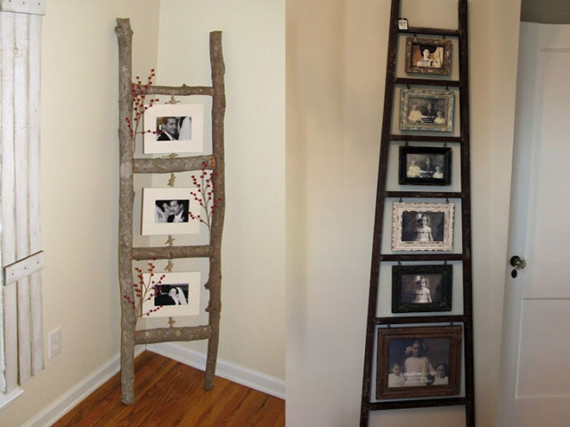 Family photo ladder
